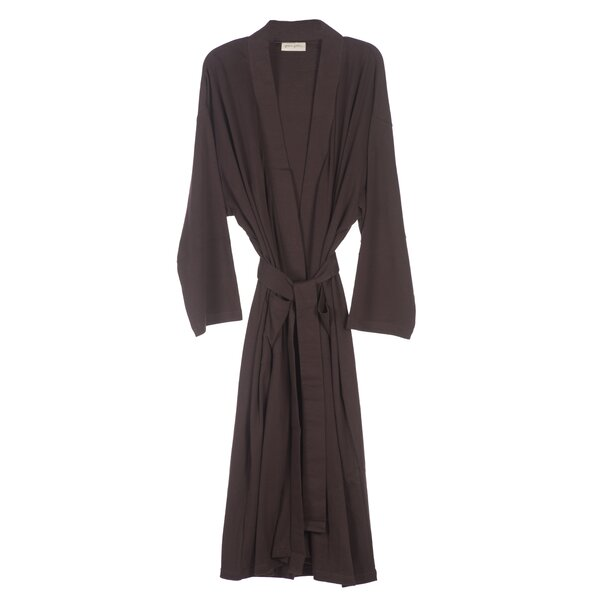 Natural Living 100% Cotton Jersey Bathrobe by Nine Space